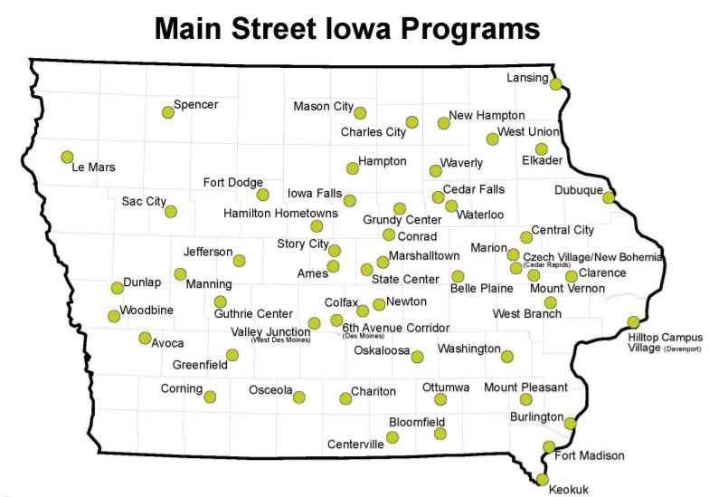 West Branch Iowa Map.Small Business Saturday Is A Time To Enjoy Iowa S Main Streets